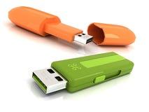 De Aandrijving van Flits twee USB Stock Foto's