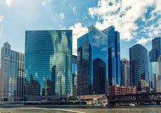 De Aandrijving van het westenwacker, Chicago, Illinois, de V.S. Stock Fotografie