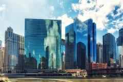 De Aandrijving van het westenwacker, Chicago, Illinois, de V.S. Stock Foto's