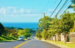 De aandrijving van kiheikilohana van Maui oceanview Royalty-vrije Stock Fotografie