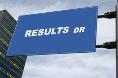 De Aandrijving van resultaten Stock Afbeelding