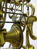 De aandrijvingsradertjes van een antiek skelet klokken Stock Afbeeldingen
