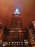 De aangestoken omhoog Eindtoren in Cleveland - OHIO Van de binnenstad stock foto