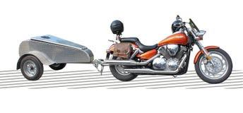 De aanhangwagen van de bagage voor motorfiets. Stock Afbeeldingen