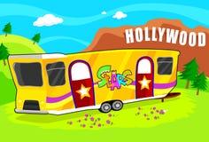 De Aanhangwagen van de Ster van Hollywood stock illustratie