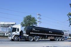 De Aanhangwagenvrachtwagen van de asfalttank Stock Foto's