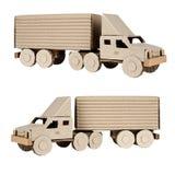 De aanhangwagenvrachtwagen van de tractor op witte achtergrond Royalty-vrije Stock Afbeelding