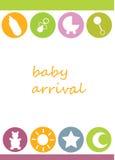 De aankomst van de baby Royalty-vrije Stock Afbeelding