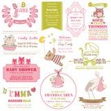 De Aankomst van de baby en de Inzameling van de Douche stock illustratie