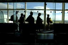 De Aankomst van de luchthaven stock afbeelding