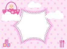 De Aankomst van het babymeisje Stock Foto's