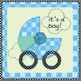 De aankomstkaart van de baby Stock Afbeelding