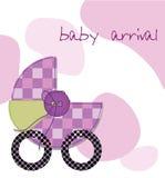 De aankomstkaart van de baby Stock Foto's
