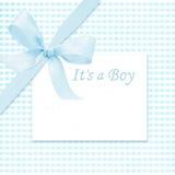De aankomstkaart van de babyjongen Royalty-vrije Stock Foto