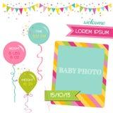 De Aankomstkaart van het babymeisje Royalty-vrije Stock Fotografie
