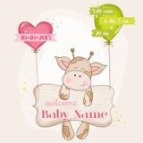 De Aankomstkaart van het babymeisje Royalty-vrije Stock Afbeelding