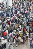 De aankomstzaal van Crowdy bij de HoofdLuchthaven van Peking Royalty-vrije Stock Foto's
