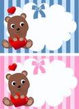 De aankondiging of de verjaardag van de baby Stock Afbeeldingen