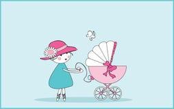 De aankondiging van de baby royalty-vrije illustratie