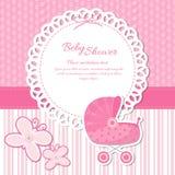 De Aankondiging van de babydouche royalty-vrije illustratie