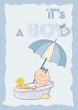 De aankondiging van de de jongensdouche van de baby Royalty-vrije Stock Foto