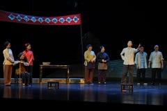 De aankondiging van de opera van Jiangxi van het verkiezingsstatuut een weeghaak Royalty-vrije Stock Afbeeldingen