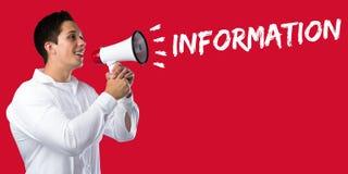 De aankondiging van het het berichtnieuws van de informatieinformatie kondigt communicatio aan Stock Afbeelding