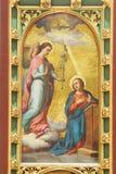 De Aankondiging van Maagdelijke Mary Stock Afbeelding