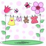 De aankondigingskaart van de baby Stock Afbeeldingen