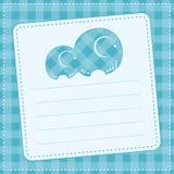 De aankondigingskaart van de babyjongen. Vectorillustratie Royalty-vrije Stock Afbeelding