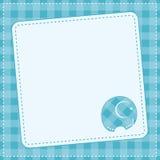 De aankondigingskaart van de babyjongen. Vectorillustratie. Stock Foto's