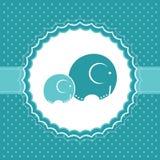 De aankondigingskaart van de babyjongen. Vectorillustratie. Royalty-vrije Stock Foto
