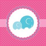 De aankondigingskaart van het babymeisje. Vectorillustratie. Stock Foto