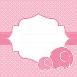De aankondigingskaart van het babymeisje. Vectorillustratie. Stock Foto's