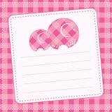 De aankondigingskaart van het babymeisje. Vectorillustratie Stock Afbeelding
