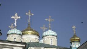 De aankondigingskathedraal van Kazan het Kremlin is de eerste Orthodoxe kerk van Kazan het Kremlin Kazan het Kremlin is stock videobeelden