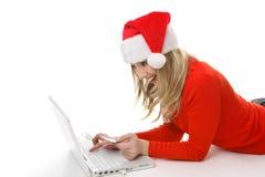 De Aankoop of de betaling van Kerstmis stock foto's