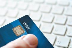 De aankoop en online het winkelen van Internet Stock Foto's