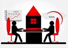 De aankoop van het huis in hypotheek Stock Foto's