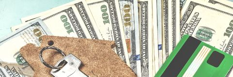 De aankoop van huisvesting op krediet stock foto