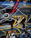 De Aanleg van kabelnetten van het netwerk   Stock Afbeeldingen