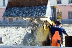 De aanleg van wegen. Royalty-vrije Stock Afbeelding