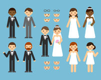 De aannemer van het huwelijkspaar stock illustratie