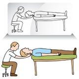 De Aanpassing van de Hals van de chiropracticus stock illustratie
