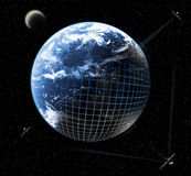 De aansluting van de aarde royalty-vrije stock afbeelding