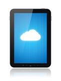 De Aansluting van de Gegevensverwerking van de wolk op Appel Ipad Stock Afbeelding