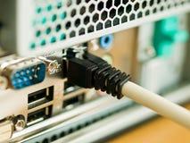 De aansluting van het netwerk Stock Foto