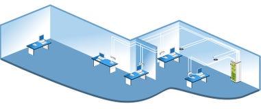 De aansluting van het netwerk vector illustratie