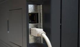 De aansluting van USB en van het netwerk royalty-vrije stock foto