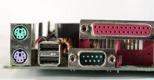 De aanslutingen van de computer Stock Fotografie